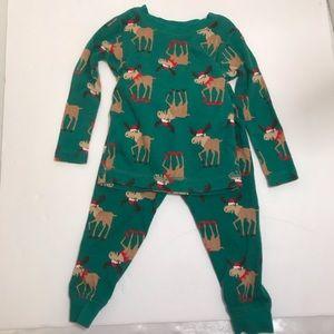 Carters Baby Christmas Moose PJ's  Long Sleeve 12M